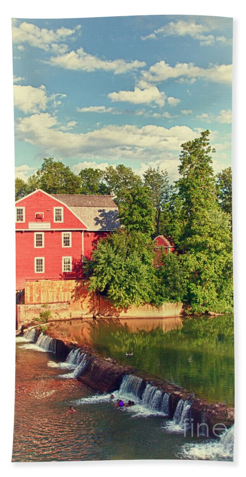 Landscape Beach Towel featuring the photograph Swimming At War Eagle by Robert Frederick