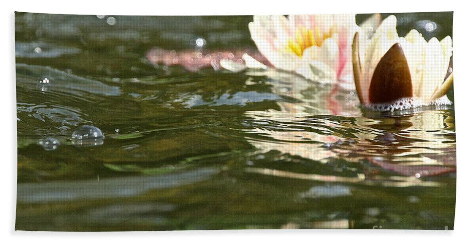 Flower Beach Towel featuring the photograph Swimmingly Beautiful by Susan Herber