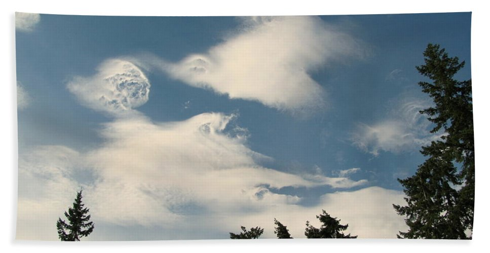Clouds Beach Towel featuring the photograph Swirls In The Sky by Leone Lund