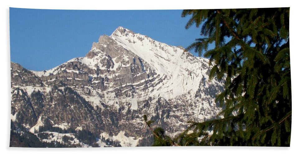 Mountain Beach Towel featuring the photograph Swiss by Katie Beougher
