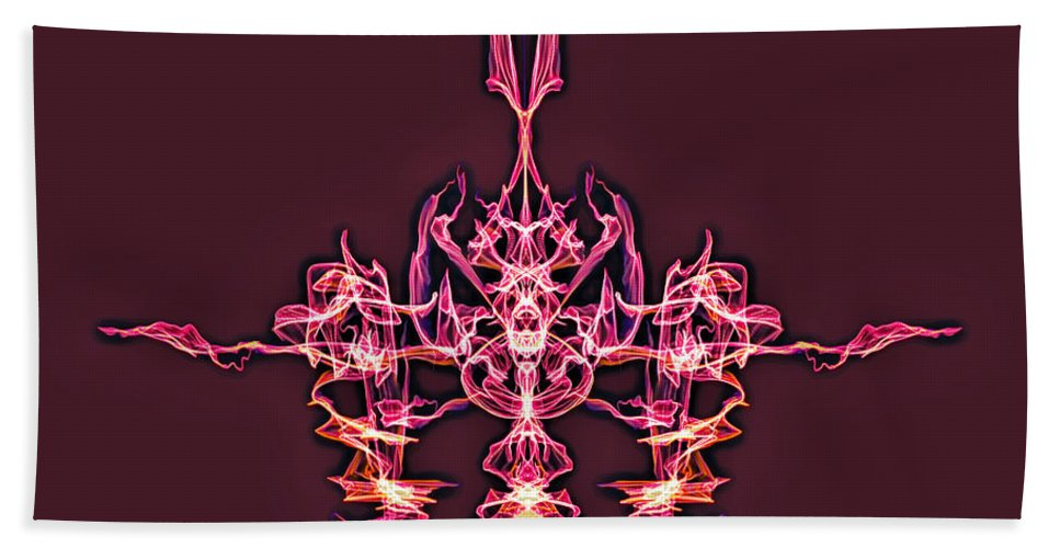 Beach Towel featuring the digital art Symmetry Art 4 by Cathy Anderson