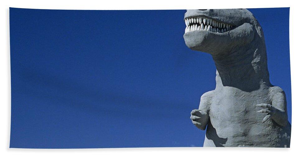 Landscape Beach Towel featuring the photograph T-rex by Jim Corwin
