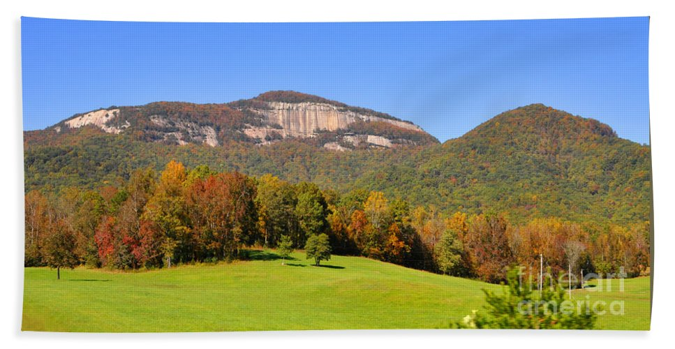 South Carolina Beach Towel featuring the photograph Table Rock In Autumn by Lydia Holly