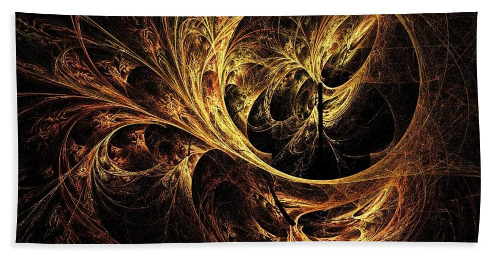 Tapestry Beach Towel featuring the digital art Tapestry by Elizabeth McTaggart