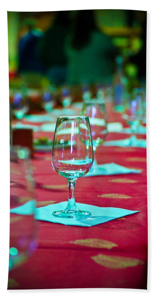 Wine Beach Towel featuring the photograph Tasting In Red by Kent Nancollas