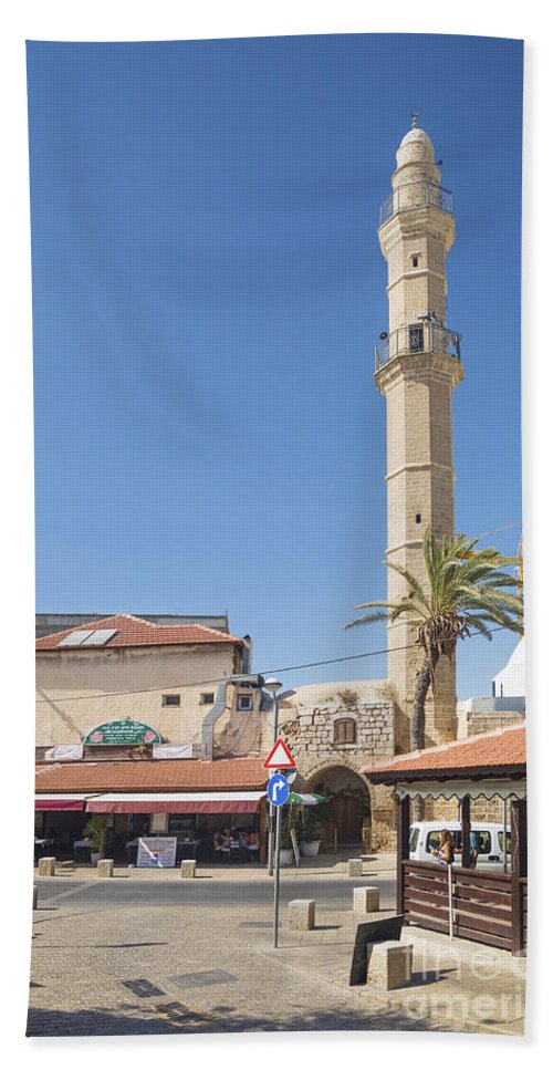 Arab Beach Towel featuring the photograph Tel Aviv Old Town Street by Jacek Malipan