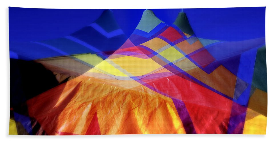 Tent Beach Towel featuring the photograph Tent Of Dreams by Wayne Sherriff