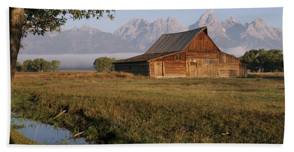 Teton Morning Magic Beach Towel featuring the photograph Teton Morning Magic by Wes and Dotty Weber