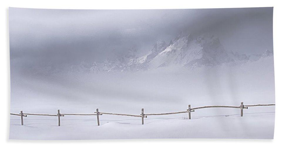 Grand Teton National Park Beach Towel featuring the photograph Teton Morning by Priscilla Burgers