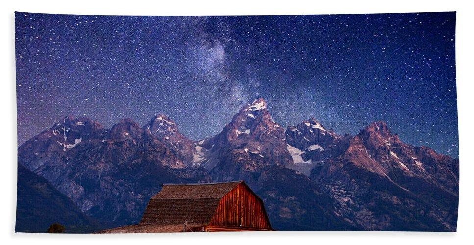 Grand Teton Beach Sheet featuring the photograph Teton Nights by Darren White