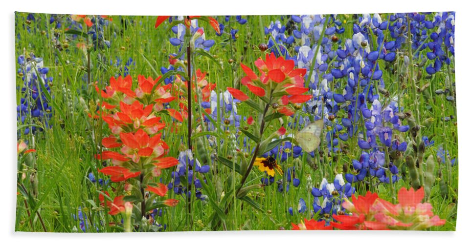 Wildflowers Beach Towel featuring the photograph Texas Best Wildflowers by Lynn Bauer
