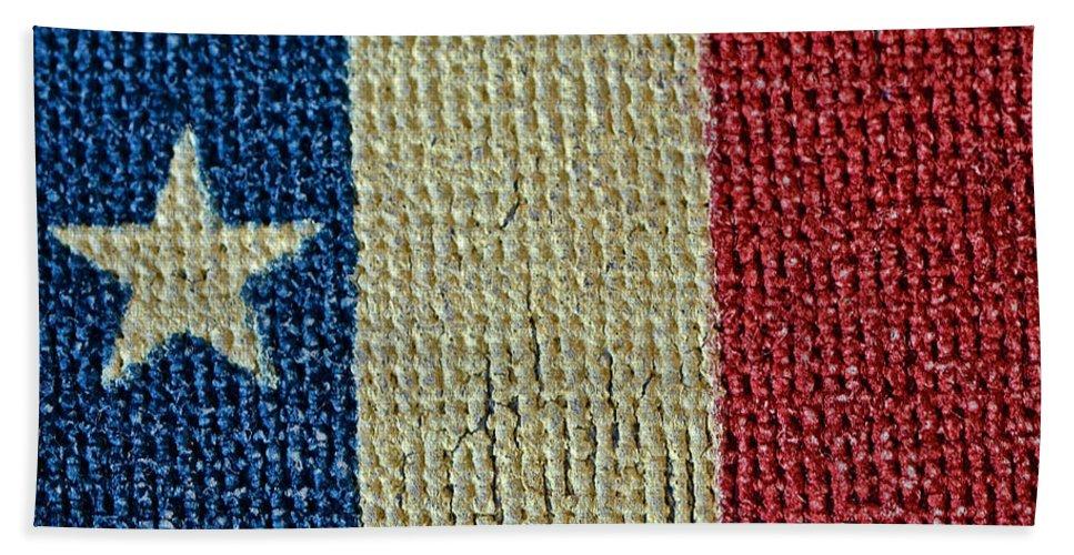 Texas Beach Towel featuring the photograph Texas First Lone Star Dodson's Flag by Bill Owen