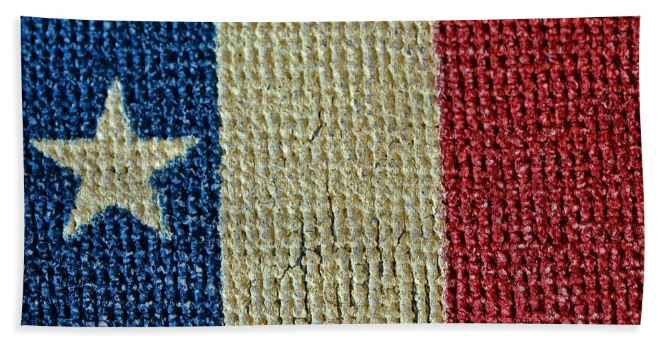 Texas Beach Sheet featuring the photograph Texas First Lone Star Dodson's Flag by Bill Owen
