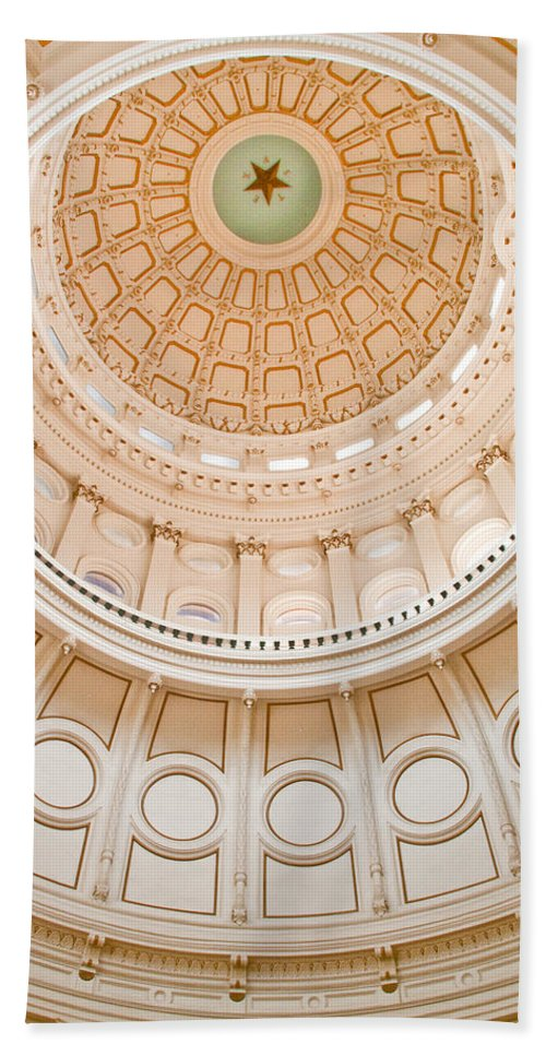 Texas Beach Towel featuring the photograph Texas State Building Dome by David and Carol Kelly