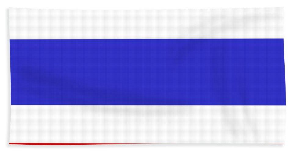 Thailand Beach Towel featuring the digital art Thailand Flag by Frederick Holiday