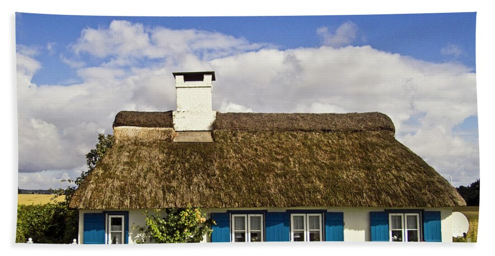 House Beach Towel featuring the photograph Thatched Country House by Heiko Koehrer-Wagner