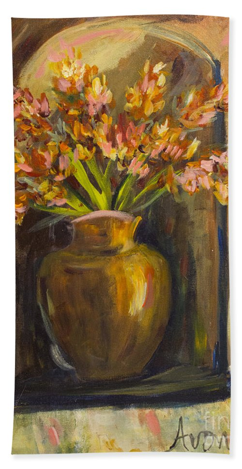Still Life Paintings Beach Towel featuring the painting The Alcove by Avonelle Kelsey