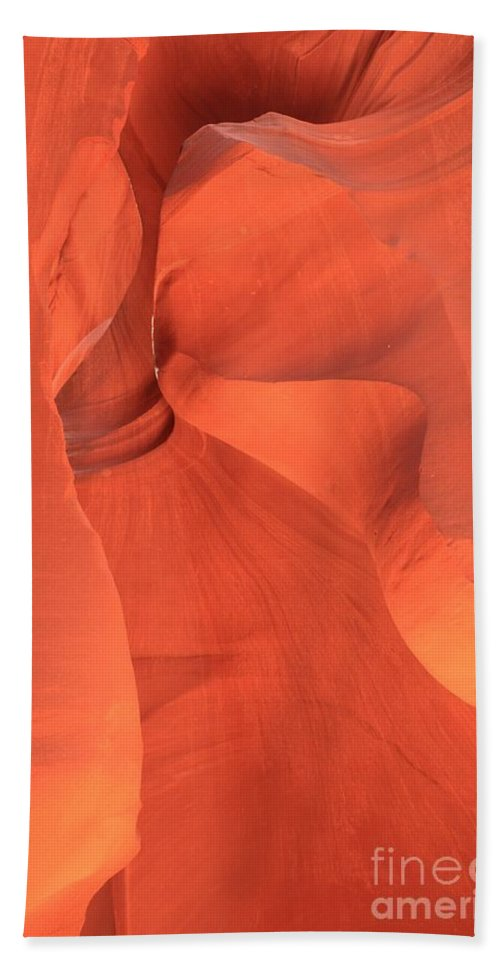 Arizona Slot Canyon Beach Towel featuring the photograph The Antelope Slide by Adam Jewell