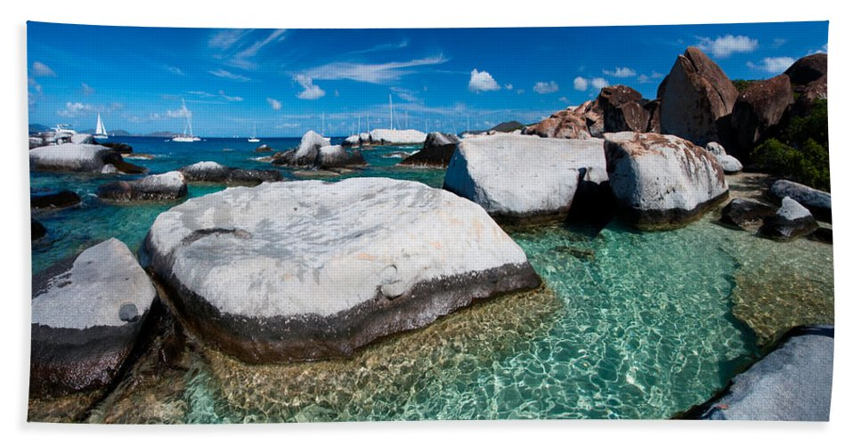 3scape Beach Towel featuring the photograph The Baths by Adam Romanowicz