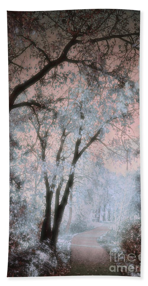 Tree Beach Towel featuring the photograph The Blue Trees by Tara Turner