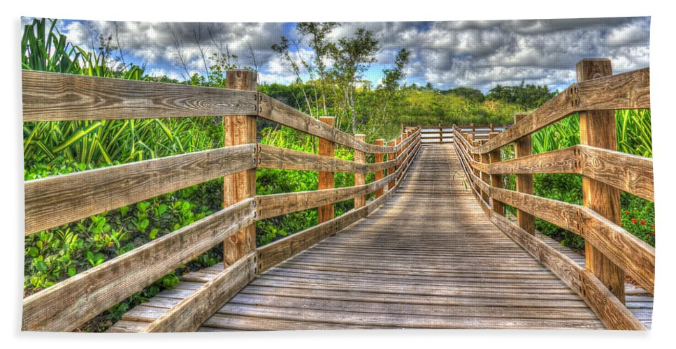 Photography Beach Towel featuring the photograph The Boardwalk by Paul Wear