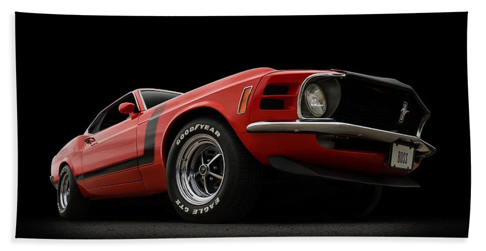 Mustang Beach Towel featuring the digital art The Boss by Douglas Pittman