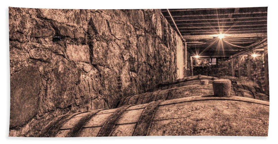 Cask Beach Towel featuring the photograph The Casks Of Wiederkehr by Jason Politte