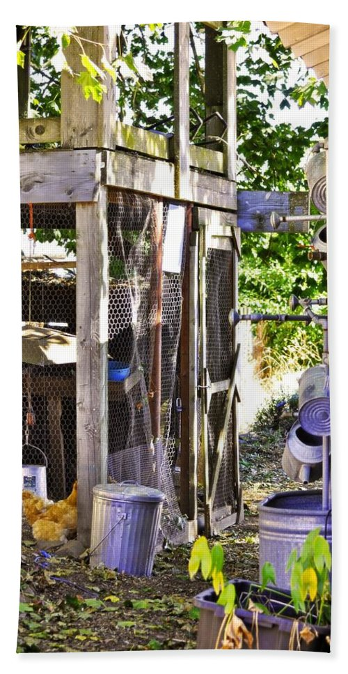Sauvie Island Beach Towel featuring the photograph The Chicken Coop by Image Takers Photography LLC - Carol Haddon