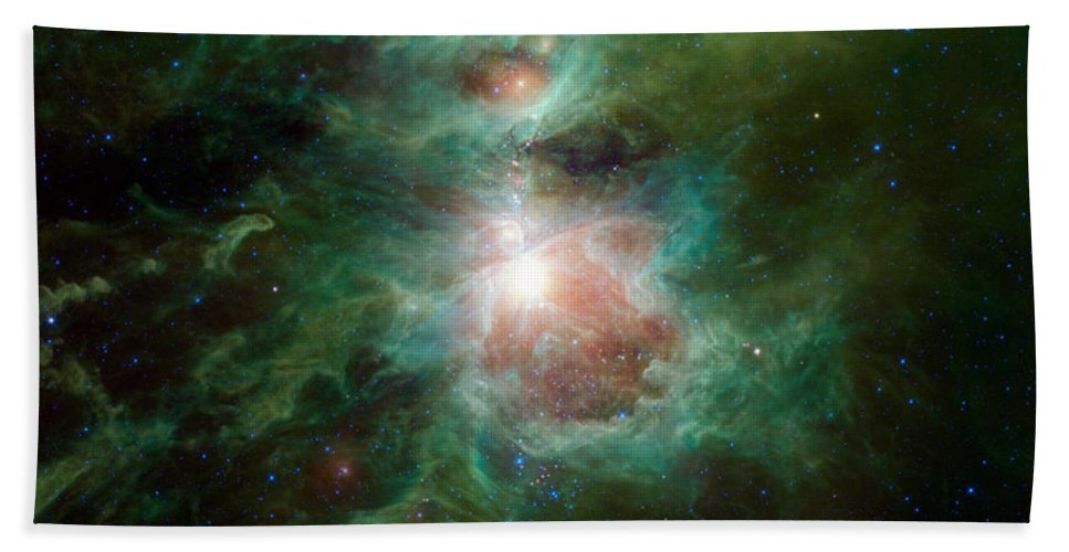 The Cosmic Hearth Beach Towel featuring the photograph The Cosmic Hearth by Movie Poster Prints