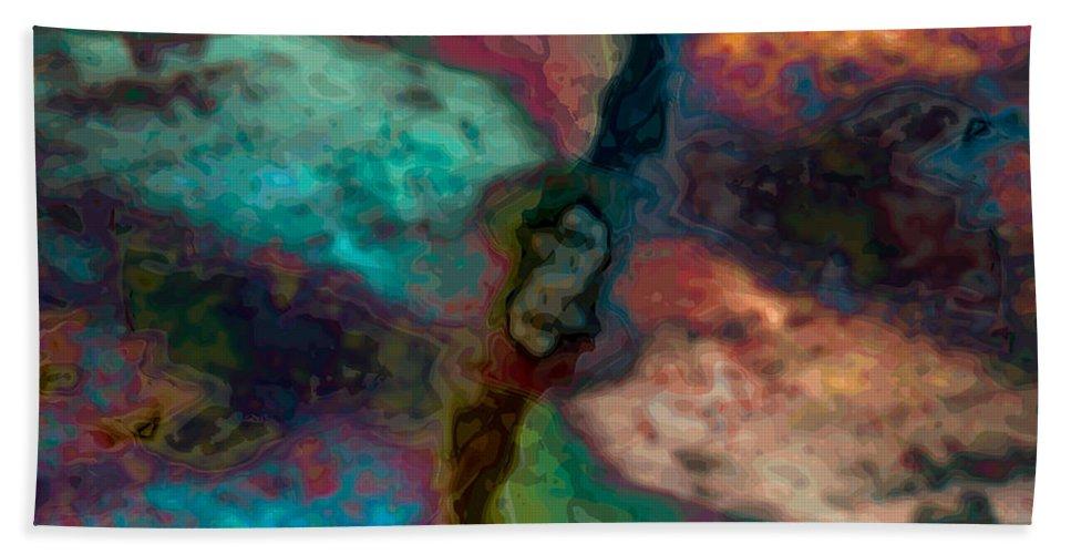 Abstract Beach Sheet featuring the digital art The Cosmopolitan by James Kramer