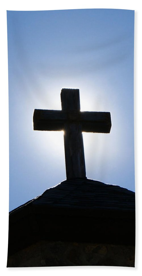 The Cross Beach Towel featuring the photograph The Cross by Ernie Echols