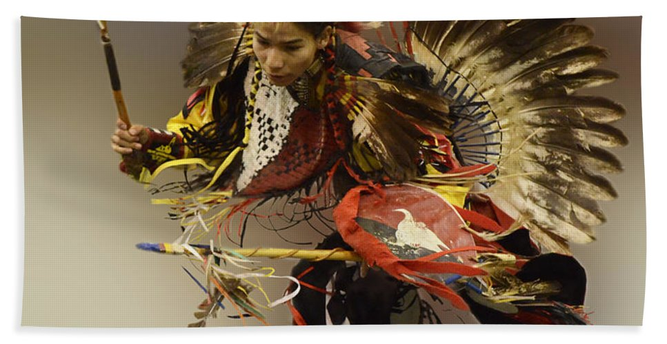 Pow Wow Beach Towel featuring the photograph Pow Wow The Dance by Bob Christopher