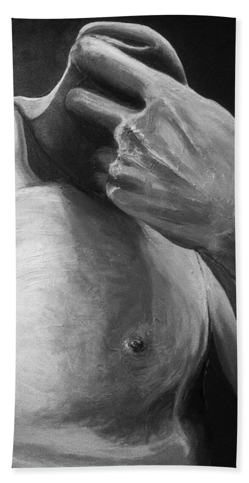 Painting Beach Towel featuring the painting The David by Sara Cuthbert