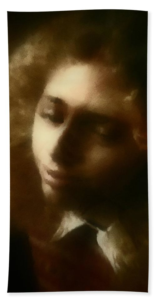 Girl Beach Towel featuring the painting The Daydream by RC deWinter