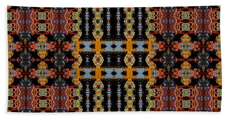 Symmetrical Art Beach Towel featuring the digital art the days of Granada by Wolfgang Schweizer