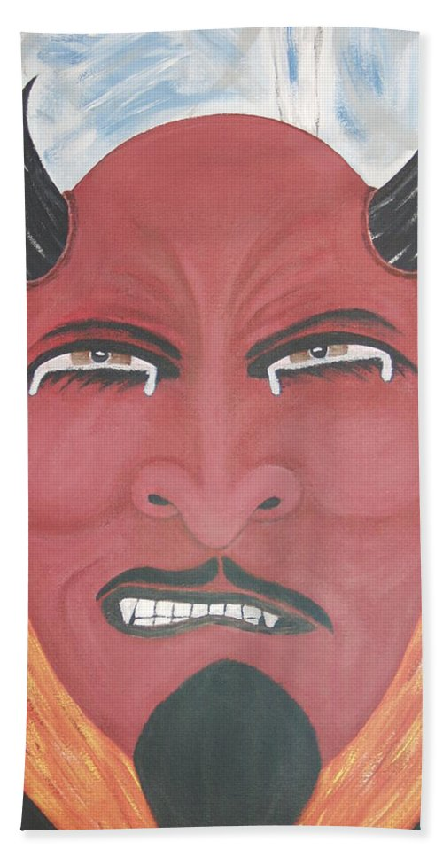 Devil Beach Towel featuring the painting The Devil Is The Detail by Dean Stephens