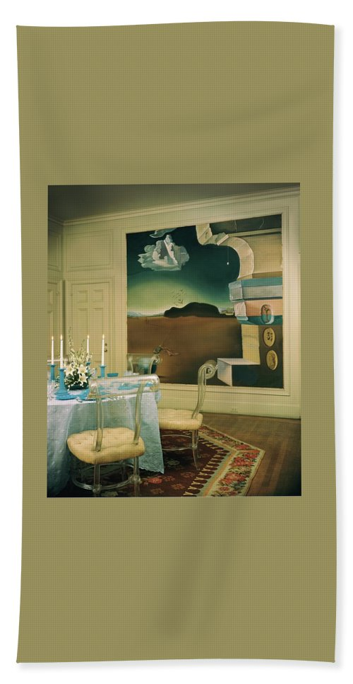 Salvador Dali Beach Towel featuring the photograph The Dining Room Of Princess Gourielli by Haanel Cassidy