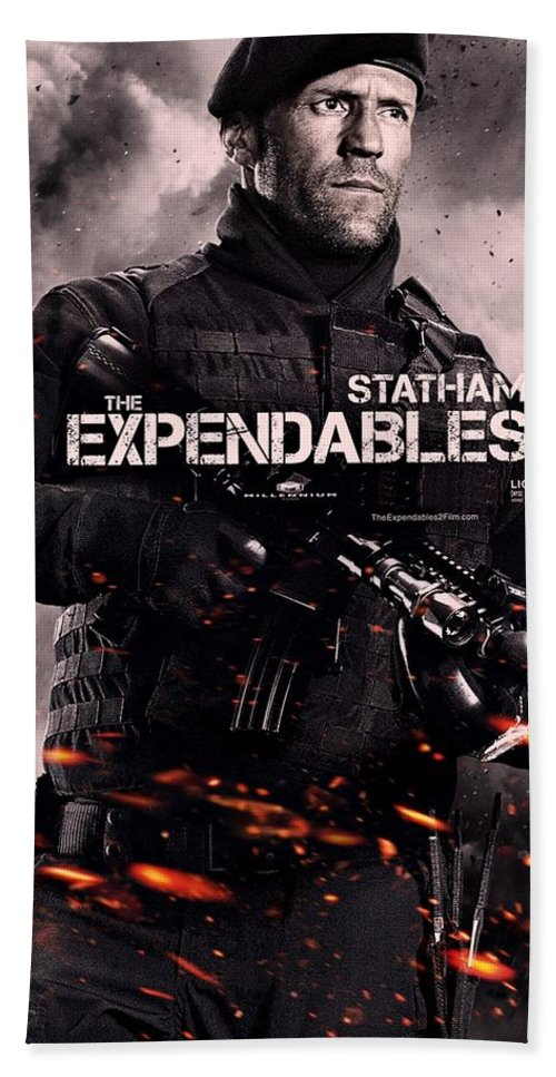 c5db5978 The Expendables 2 Beach Towel featuring the photograph The Expendables 2  Statham by Movie Poster Prints