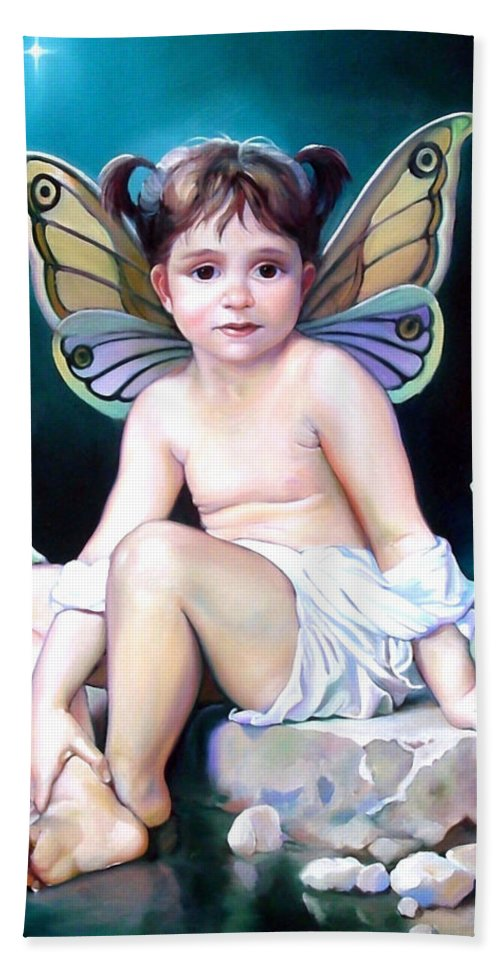 Fairy Beach Towel featuring the painting The Faerie Princess by Patrick Anthony Pierson