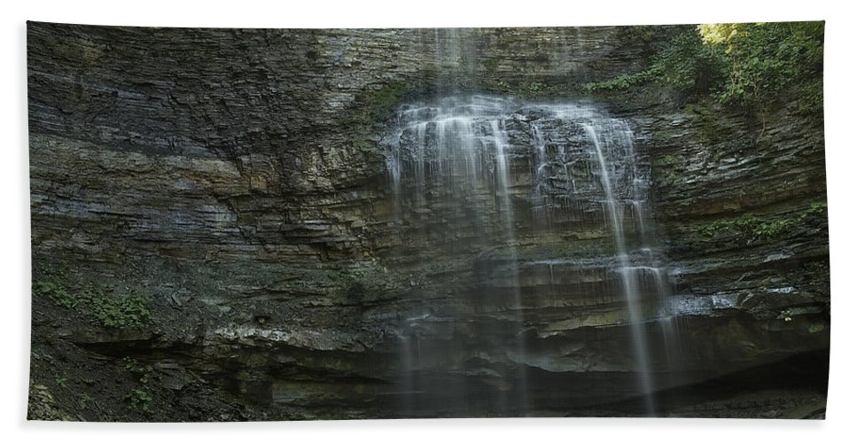 Stock Photography Beach Towel featuring the photograph The Falls From Below by Phill Doherty