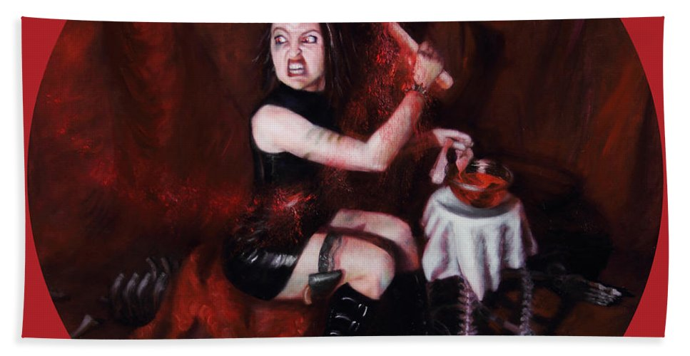 Shelley Irish Beach Towel featuring the painting The Fearful by Shelley Irish