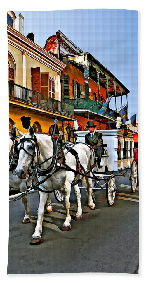 French Quarter Beach Towel featuring the photograph The Final Ride II by Steve Harrington