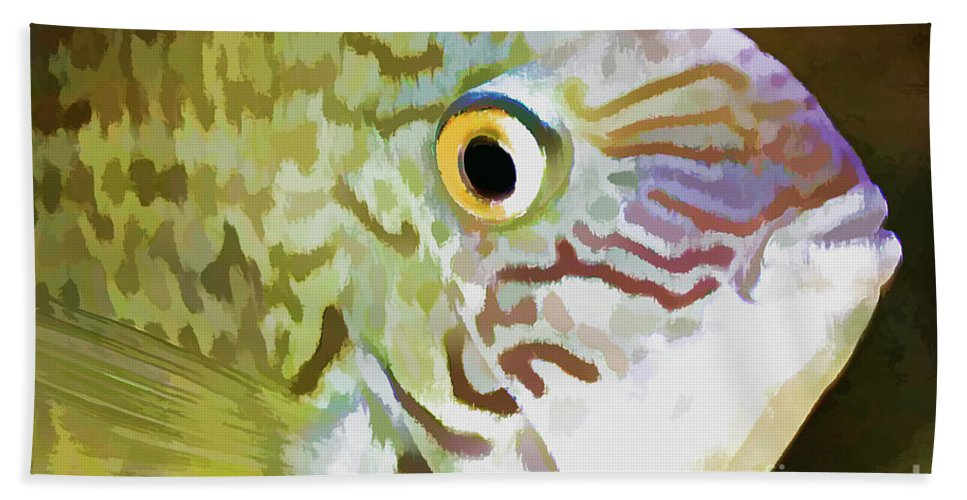 Fish Beach Towel featuring the photograph The Fish by Deborah Benoit