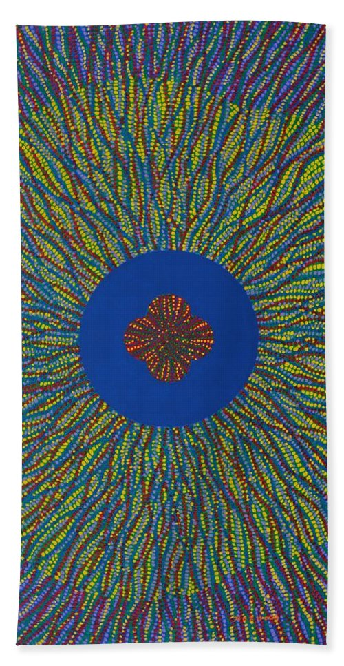 Flower Beach Towel featuring the painting The Flower 3 by Kyung Hee Hogg