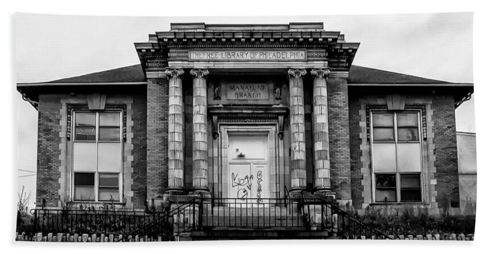 Free Beach Towel featuring the photograph The Free Library Of Philadelphia - Manayunk Branch by Bill Cannon