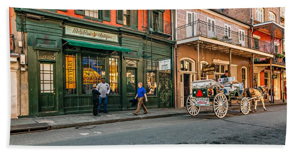 French Quarter Beach Towel featuring the photograph The French Quarter by Steve Harrington