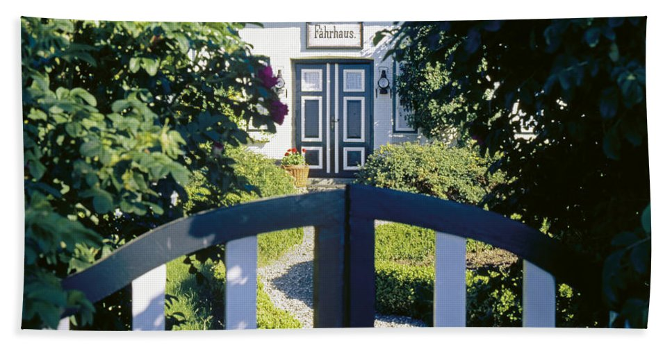Gate Beach Towel featuring the photograph The Front Garden by Heiko Koehrer-Wagner