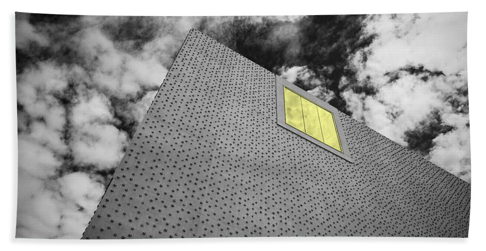Architecture Beach Towel featuring the photograph The Illumintated Window by Chevy Fleet