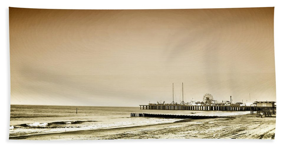 New Jersey Beach Towel featuring the photograph The Jersey Shore by Bill Cannon