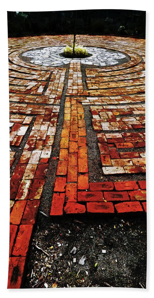 Labyrinth Beach Towel featuring the photograph The Labyrinth Of St Luke's by Steve Taylor